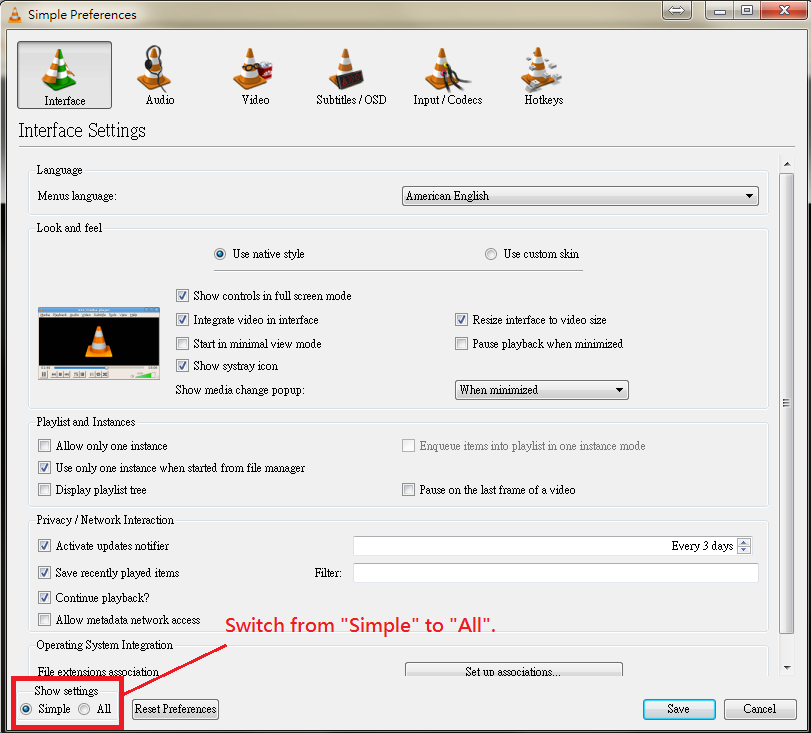 How to setup and configure VLC player to retrieve camera RTSP